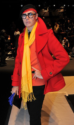 Patrick McDonald at the Academy of Art University Mercedes-Benz Fashion Week show. Photo by Getty Images.