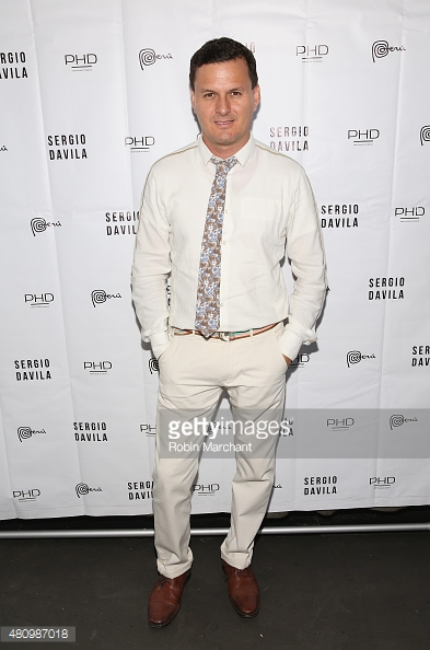 Designer Sergio Davila attends his show during New York Fashion Week: Men's S/S 2016 at PHD at the Dream Downtown on July 16, 2015 in New York City.
