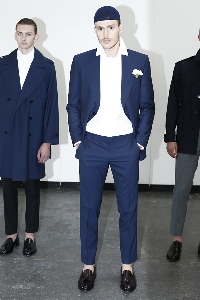 Kenneth Ning Men's RTW Spring 2016; Image via WWD.com