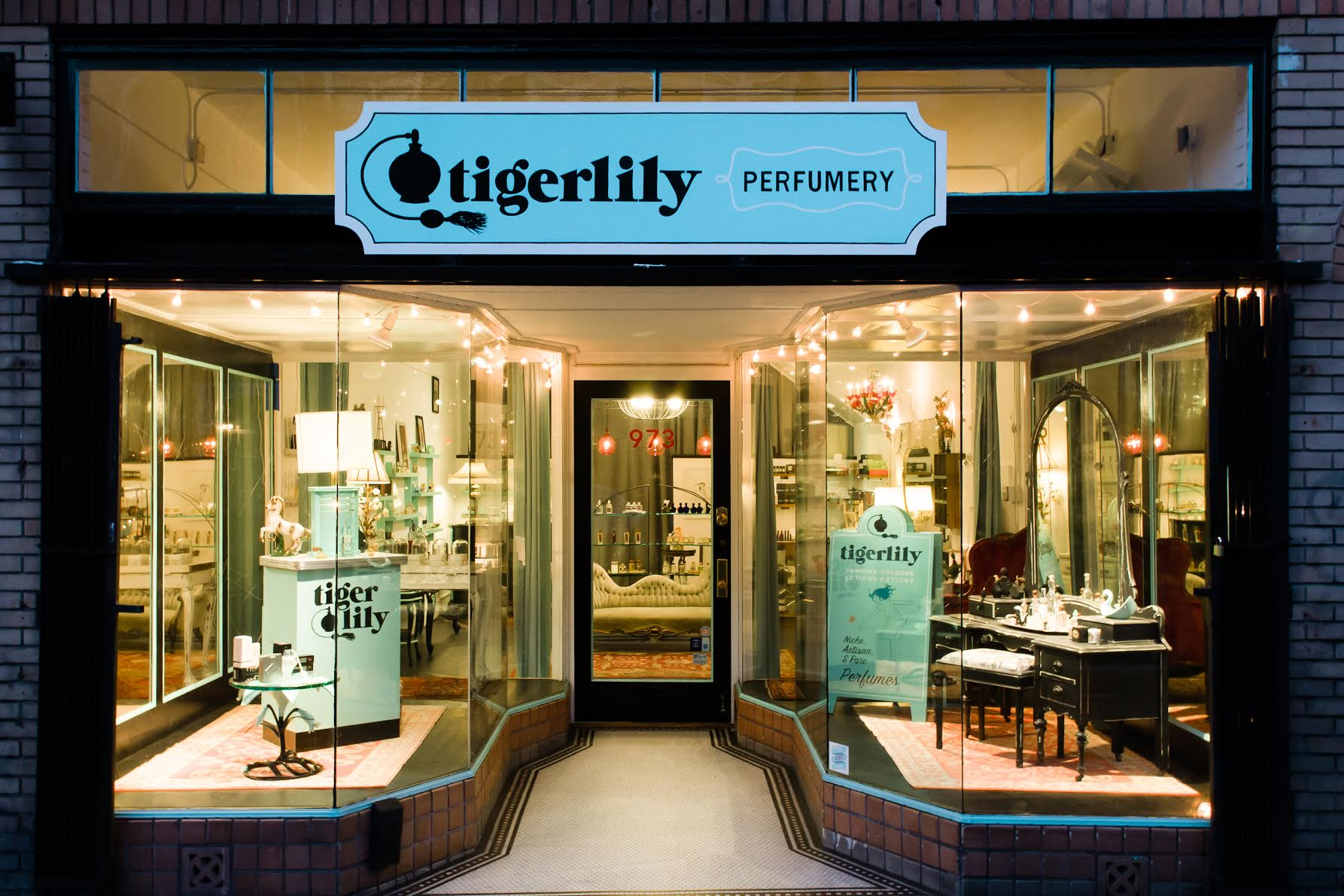 Exterior Store of Tigerlily; Image Courtesy of Tigerilly Perfumery