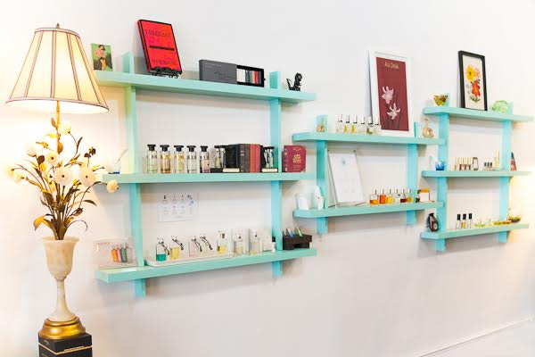 Perfumes in Tigerlily Store; Image Courtesy of Tigerlily Perfumery