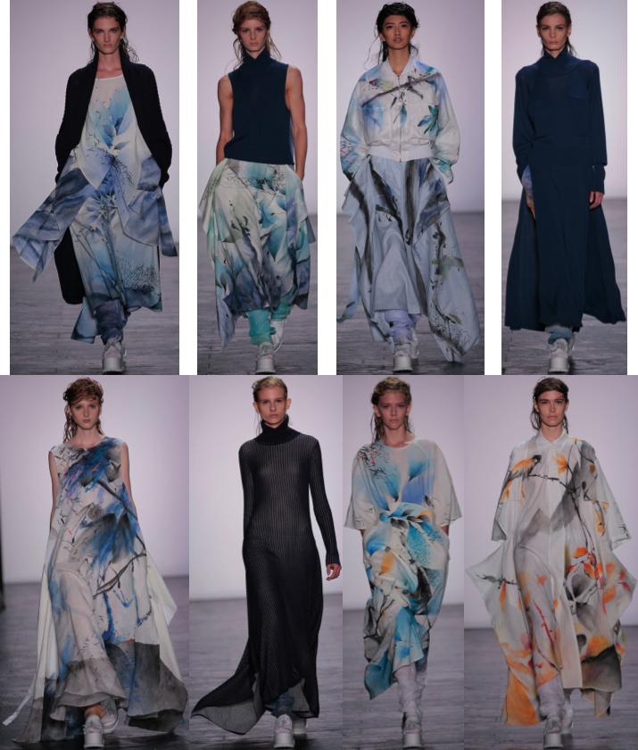 Spring 2016 collection by Liz Li, M.F.A. Fashion Design, and Bom Kim, M.F.A. Knitwear Design