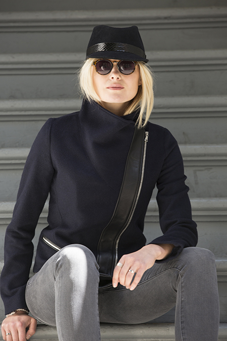 A Navy Funnel Neck Partial