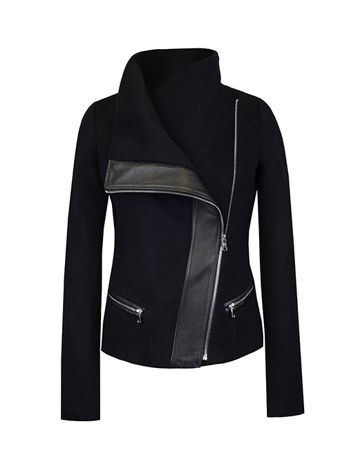 FUNNEL NECK - Black