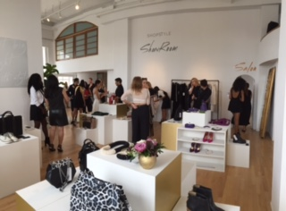 In her editorial duties Suarez gets to attend and cover events like the Show Room preview for Shopstyle, pictured above.