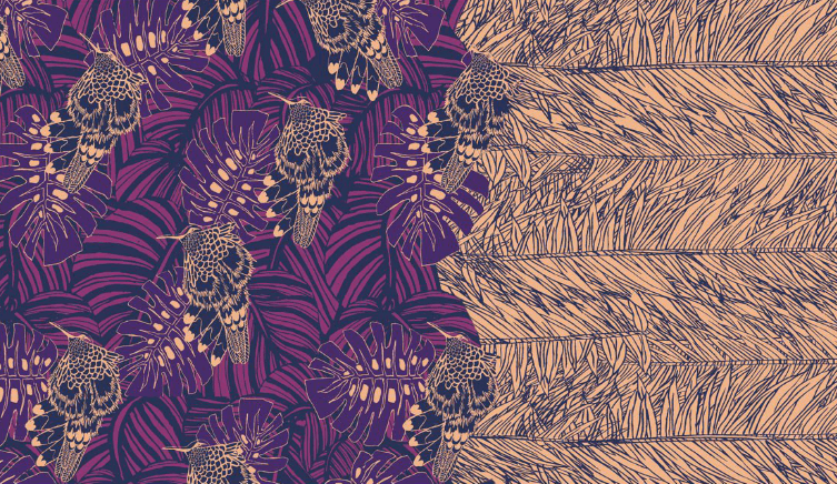 """Juan Chen submission for Fashionsnoops """"Print and Pattern"""" competition. Photo courtesy of Fashionsnoops"""
