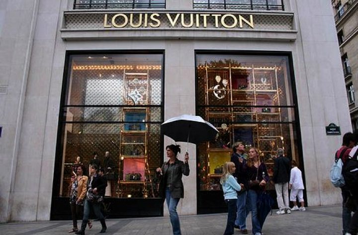 Louis Vuitton store at Champs Elysee, Paris, France. One of the busiest shopping destinations for tourist in the country. Photo via Pinterest