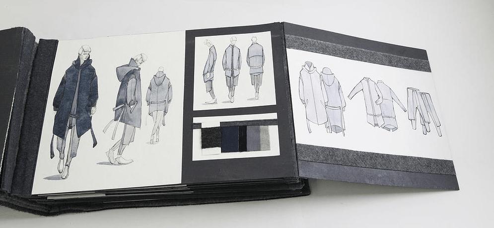 Yijia Jian's Joe's Black Book 2015 Fall/Winter submission. Photo courtesy if Yijia Jian