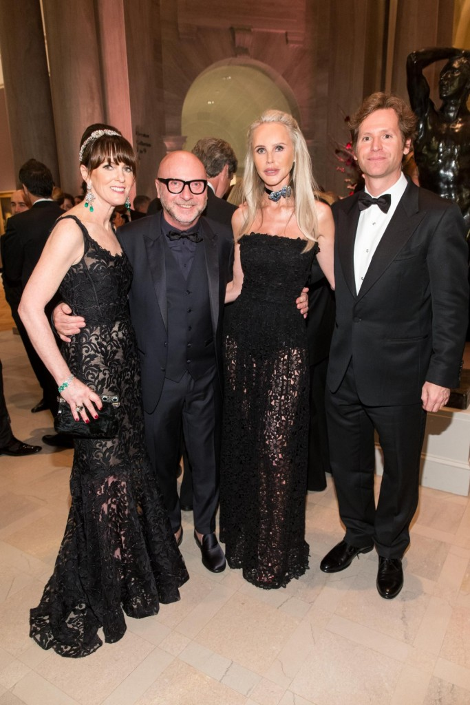 Allison Speer, Domenico Dolce, Vanessa Getty, Trevor Traina at the The Mid-Winter Gala 2016 presented by Dolce & Gabbana.