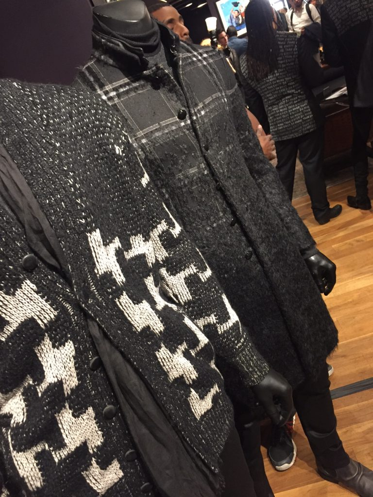 Woolen Coat and Sweater displayed on the John Varvatos San Francisco sales floor. Image Source: Fashion School Daily.