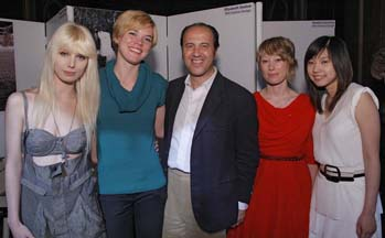 The 2009 French Exchange Scholarship Winners photographed with Prosper Assouline