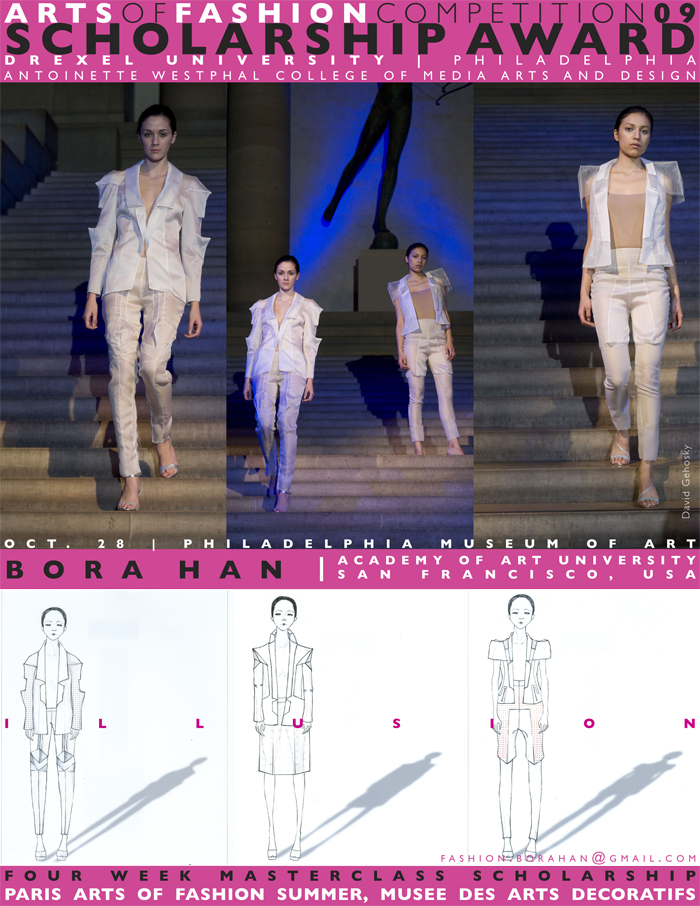 Bora han uses her 39 illusion 39 at the arts of fashion Fashion design schools in philadelphia