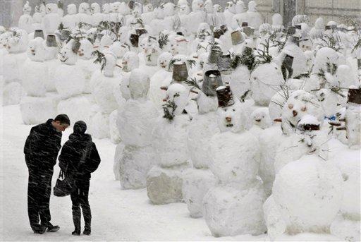 APTOPIX Russia Winter