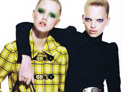 Daphne Groeneveld (right) and Lindsey Wixson for Miu Miu Fall 2010 campaign  ad. 10a92570d77de