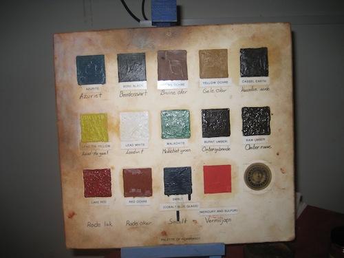 Rembrandt's palette