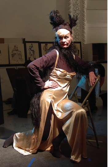 Rosemary Sullivan models for illustration students