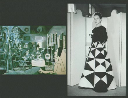 Balenciaga's design compared to Spanish works of art