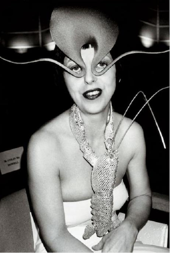 The late Isabella Blow, brilliant in Philip Treacy.