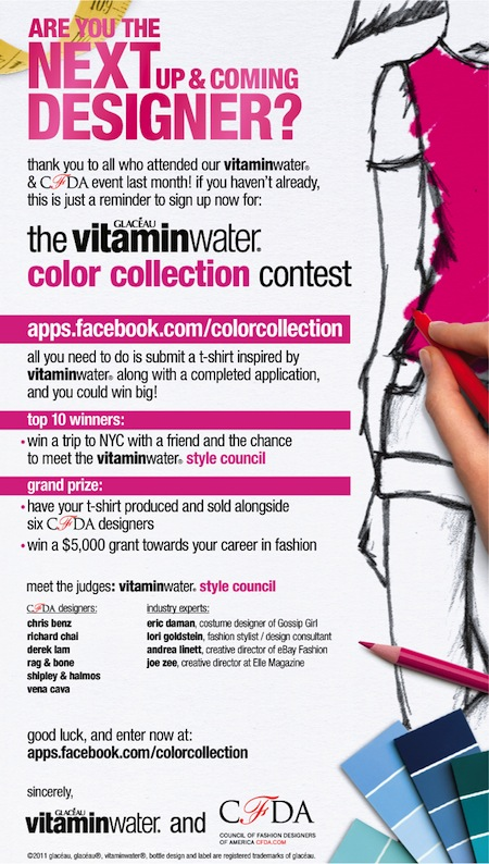 Cfda Reminder Sign Up For The Vitaminwater Color