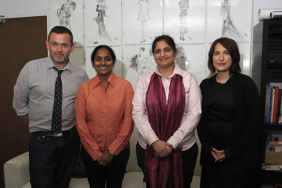 L-R: Simon Ungless, Director of the School of Fashion; Usha Kakarla, Director of NIFT Bangalore; Purva Khurana, Associate Professor + Coordinator-Bridge Program at NIFT Delhi; Sara Kozlowski, Assistant Director of the Fashion Design
