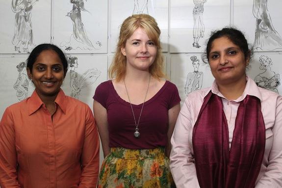 L-R: Usha Kakarla, April Thompson (attending NIFT this fall), and Purva Khurana