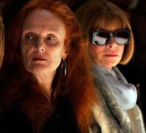 Anna Wintour with her right hand Grace Coddington.