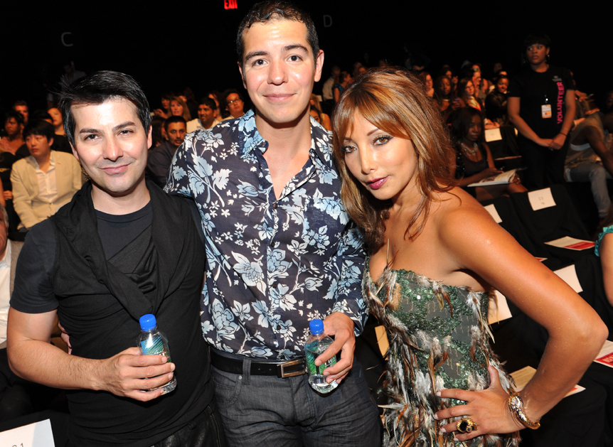 Fashion Designer Bacca Da Silva, Paul Navarro, and stylist Karen Tamblyn