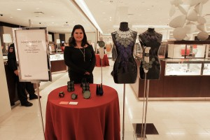 Rachele Baretto displaying her amazing jewelry.