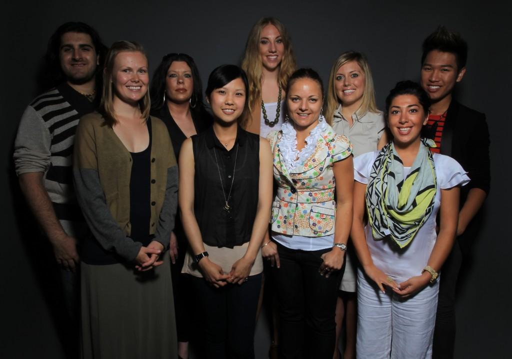 Beyond the Front Row Board Members (L-R: Roman, Heather, Bridget, Sharon, Amy, Ana, Courtney, Raha, Daniel)