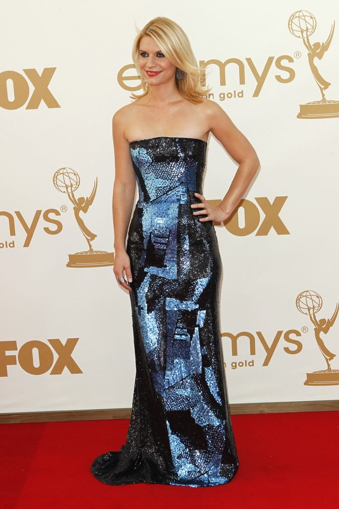 Claire Danes in a multicolored sequin Armani Privé dress