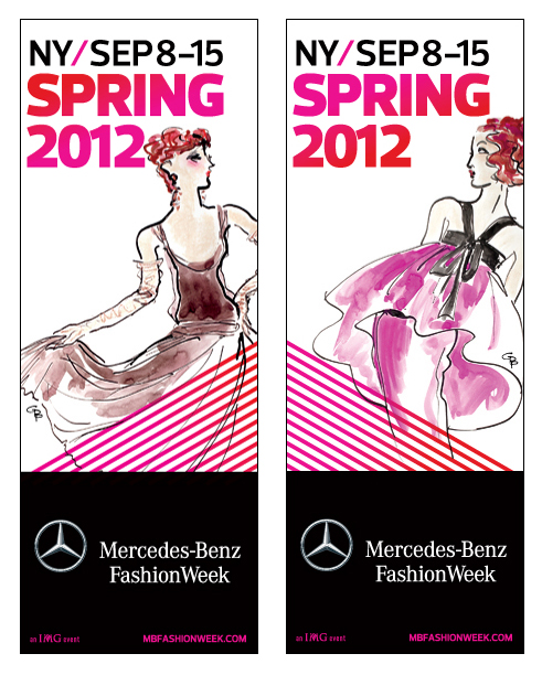 Official Mercedes-Benz Fashion Week Banners - Illustrated by GPP