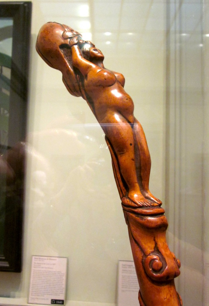 Paul Gaugin (1848 - 1903) Walking stick carved from boxwood.