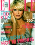 Heidi Klum on the February 2004 Elle cover