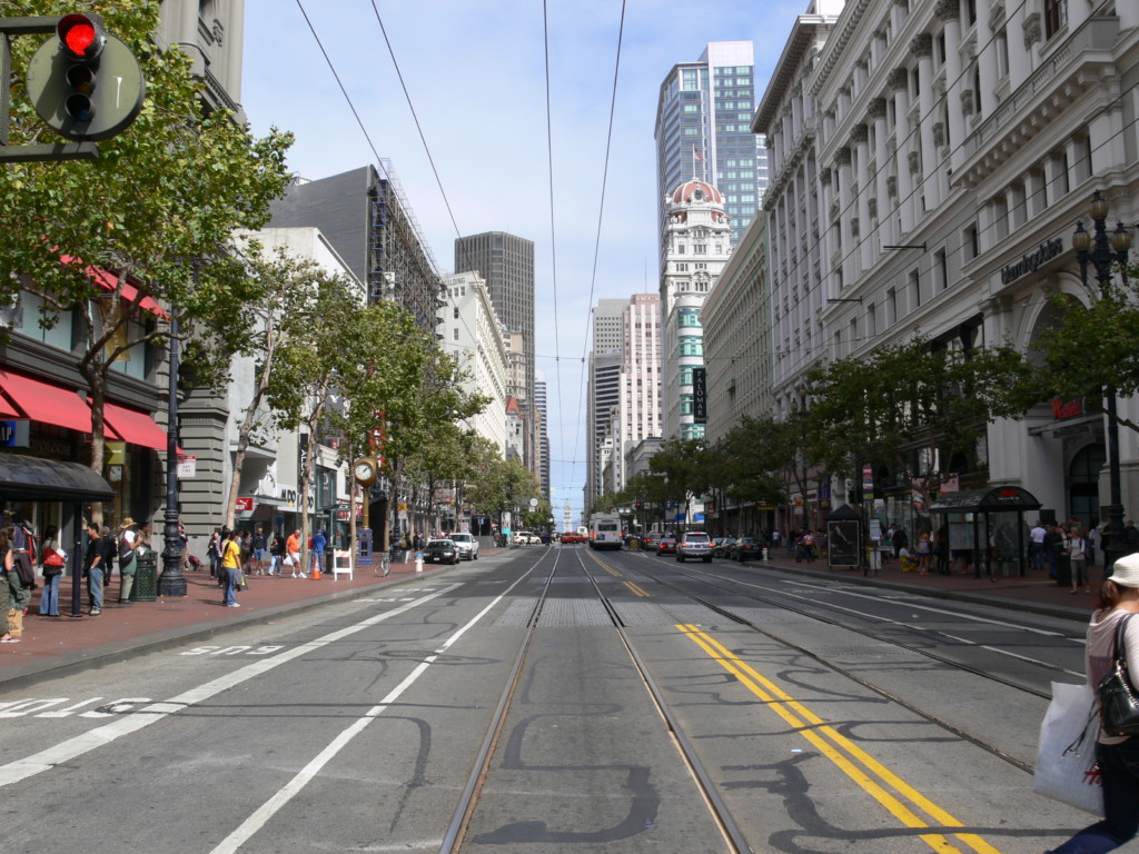 San Francisco Market Street Between 4th and 5th street