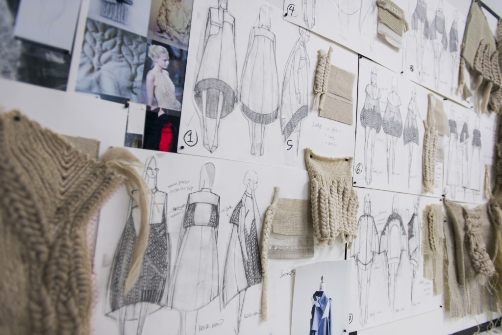Mia's design process for her Spring 2015 Collection.