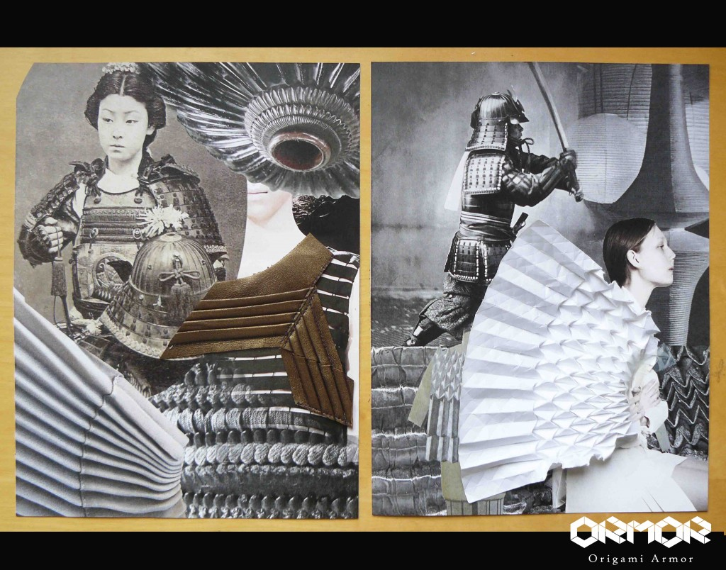 Szu Chi Huang was inspired by the Japanese samurai armor.