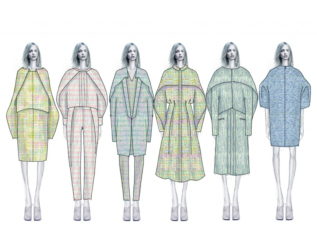 Illustrated Lineup for Zhou's Spring 2015 Collection.