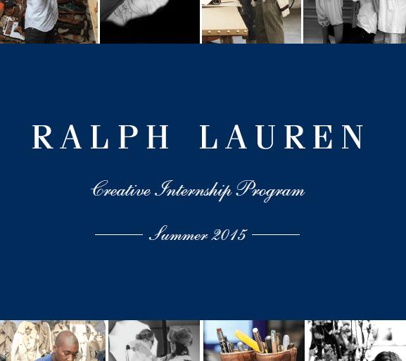Poster of Ralph Lauren creative internship program