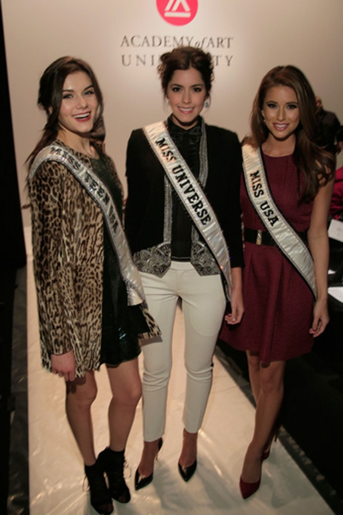 Miss Teen USA 2014 K. Lee Graham, Miss Universe 2014 Paulina Vega, and Miss USA 2014 Nia Sanchez.   Image: Getty Images