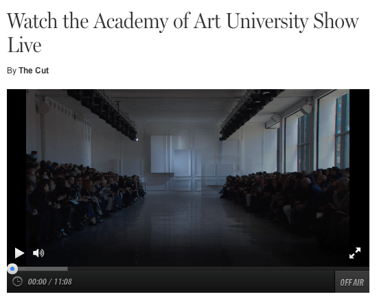 Watch the Academy of Art University Show Live By The Cut