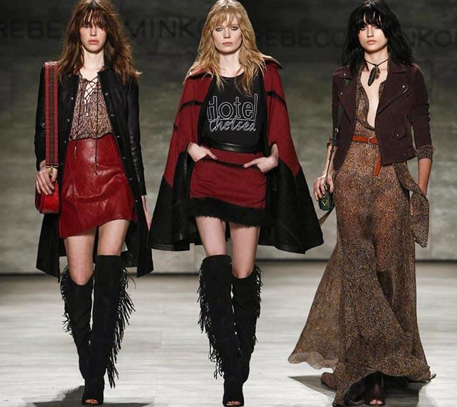 Looks from Rebecca Minkoff F/W 2015. Image:  fashionisers.com