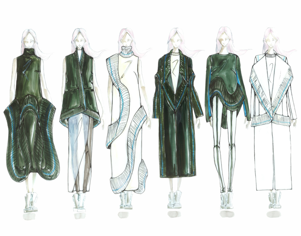 Emma Xueling Cui's illustrated lineup.