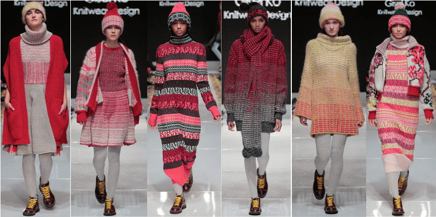 Graduation knitwear collection by Gisel Ko.