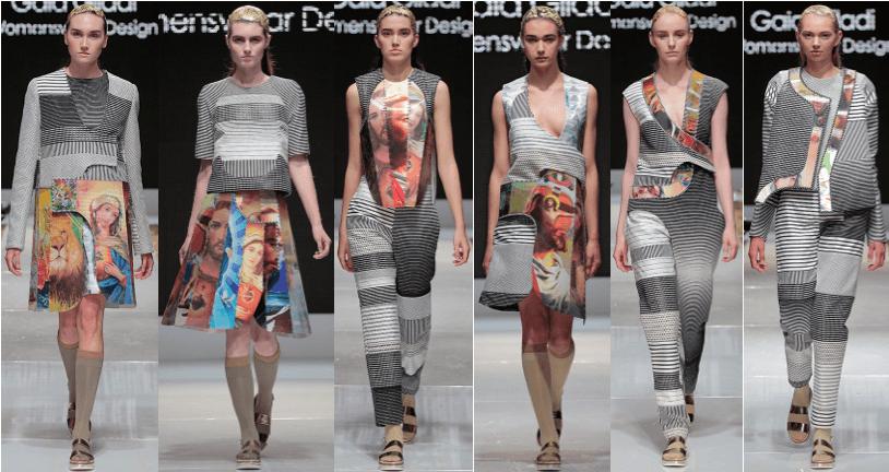 Photo of female models wearing clothing designed by Gaia Giladi