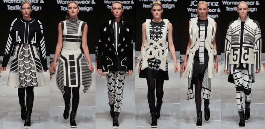 Photo of female models wearing clothing designed by JC Munoz