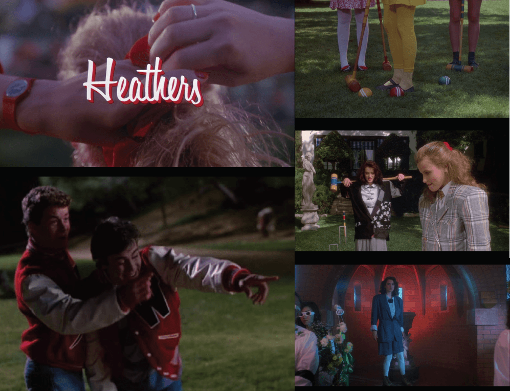 "Still's from the ""Heathers"" movie, which is a main source of inspiration for this collection. Image: courtesy of eremy Vu, Lupita Ramirez and Justin Lei Wang."