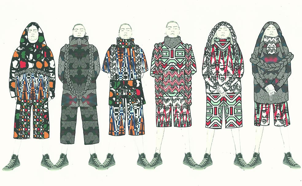 Gyuwon Jeong and Jimin A. Kim's graduation collection Illustration Lineup Image: courtesy of Gyuwon Jeong and Jimin A. Kim