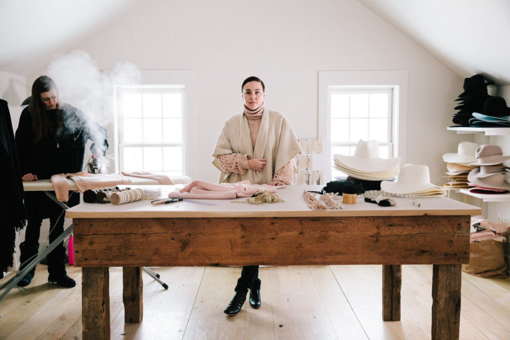 Ryan Roche at home in her home and studio in Upstate New York. Image: http://airwaveranger.tumblr.com