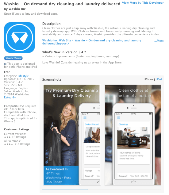 Wash.io Preview; Image via Itunes.apple.com