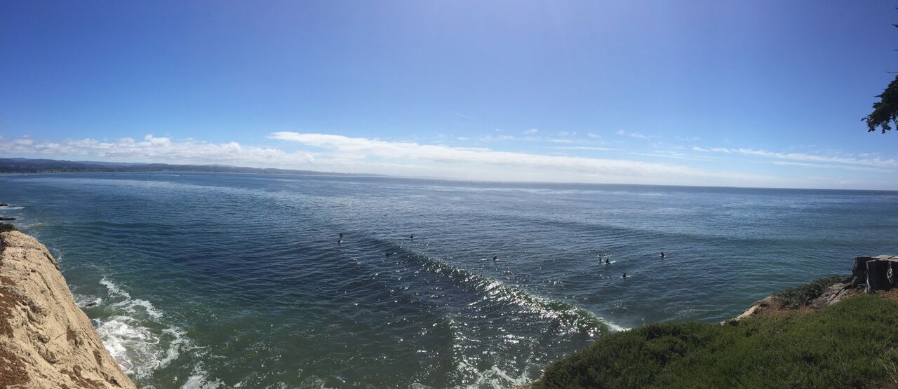 Picture of the sea from a high vantage point